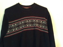 Dockers Black with Design on Front Long Sleeve Sweater 100 Percent Cotton Size L image 2
