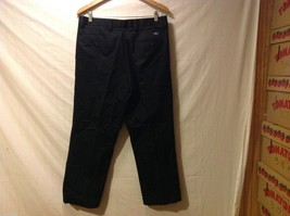 Dockers Mens Black Pleated Dress Pants, Size W34 L28 image 2
