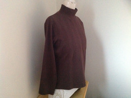 Dressbarn Brown Turtleneck Long Sleeve Sweater Made in Lesotho Size Large image 2