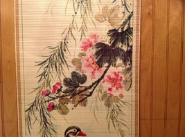 Ducks in Water Scroll Picture Wall Hanging Wooden Scroll Print image 3