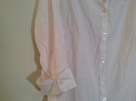 Dressbarn White Button Up Front Shirt Three Quarter Length Sleeves Size 14 to 16 image 2