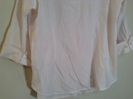Dressbarn White Button Up Front Shirt Three Quarter Length Sleeves Size 14 to 16 image 7