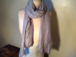 Fancy Gray Sparkly Limited Edition Scarf 72 Inches Long 28 Inches Wide image 5