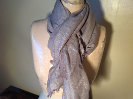 Fancy Gray Sparkly Limited Edition Scarf 72 Inches Long 28 Inches Wide image 3