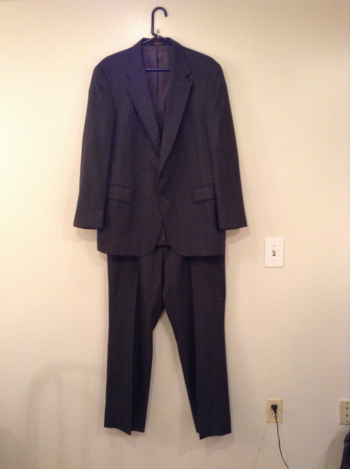 Evan Picone Gray Jacket and Pant Suit Size 46 Regular Partially Lined Jacket