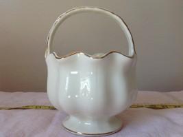 Fine Porcelain European Home Decoration by JS Imports Glass Creamy White Basket image 7