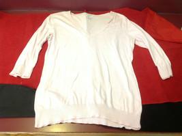 GAP Light Pink Ladies V Neck Sweater Size Large