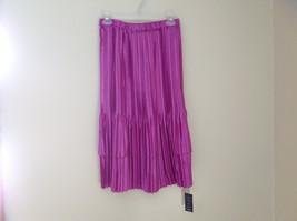 Fuschia  Colored Calf Length Pleated Skirt Mini Pleats Fashion Size Small