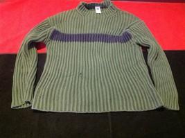 Gap boy's olive and dark blue Turtle neck long sleeve sweater size medium