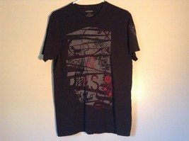 Express Black T Shirt Gray Design on Front 100 Percent Cotton Soft Size Medium