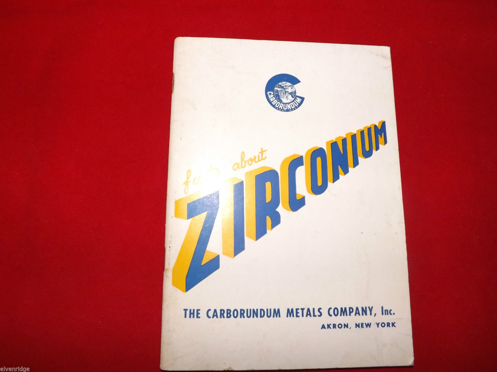 Facts About Zirconium Booklet Carborundum Metals Company