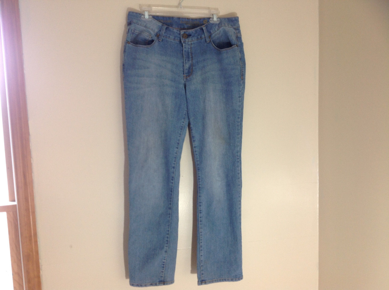 Faded Glory Denim Straight Leg Jeans 5 Pockets Size 16