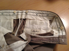 Eddie Bauer Light Brown 100 Percent Cotton Pleated Front Dress Pants Size 33W image 7