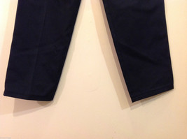Eddie Bauer Womens Classic Fit Wrinkle Resistant Navy Blue Black Pants, Size 8 image 5
