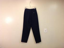Eddie Bauer Womens Classic Fit Wrinkle Resistant Navy Blue Black Pants, Size 8 image 2