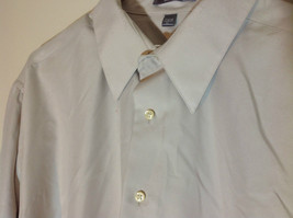 Geoffrey Beene Tan Mens dress shirt long sleeves pockets on front size XL