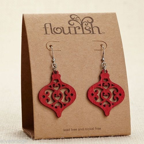 Fashion earrings filigree  Mini Ornament  Flourish