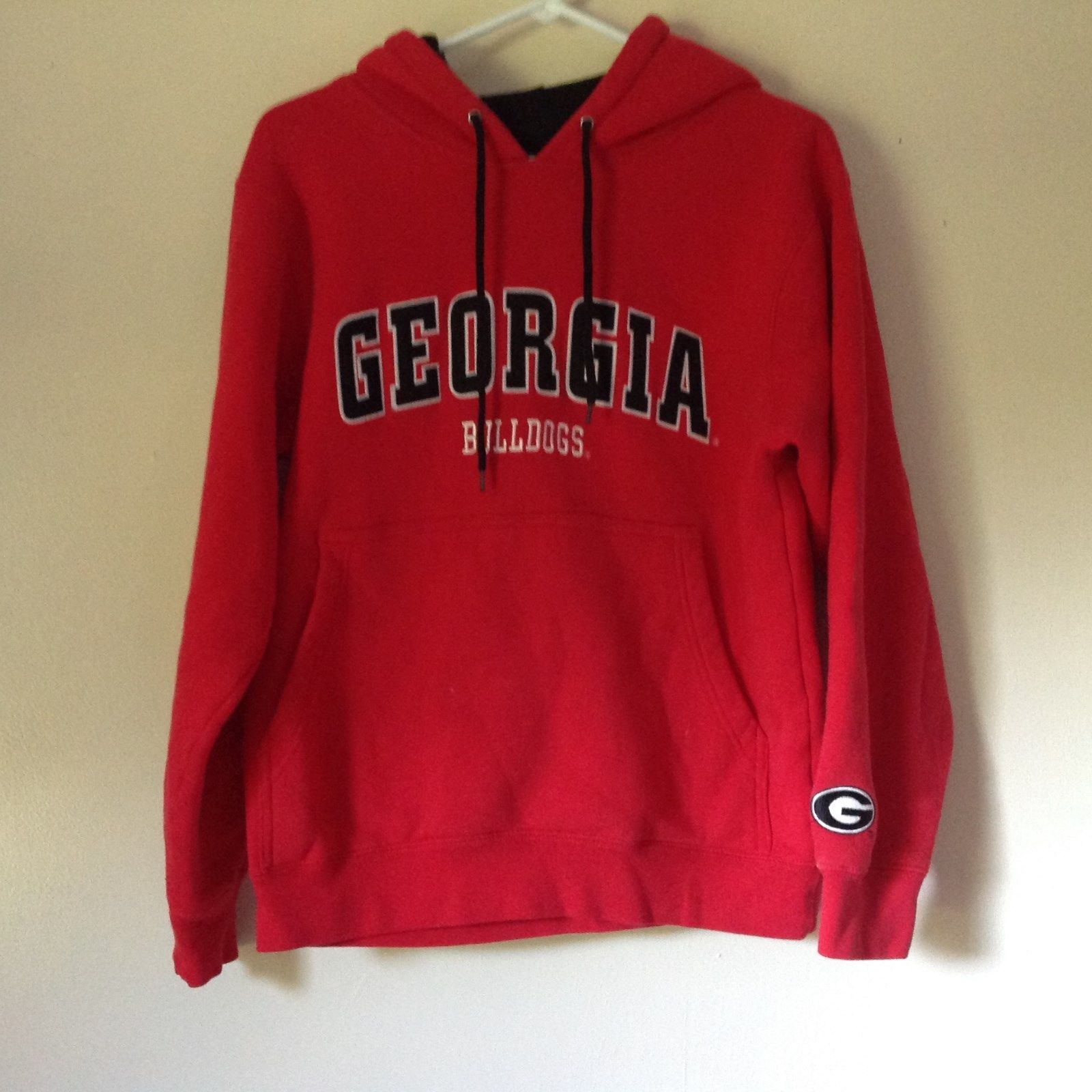 Georgia Bulldogs Red Hoodie Sweatshirt Team Edition Apparel Sizes XS