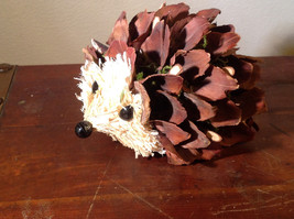 Five Inch Medium Hedgehog Decoration Cute for Display All Natural Materials image 2