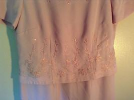Elegant Light Dusty Rose Pink Dress by East 5th Petite Size 6P Double Layered image 4