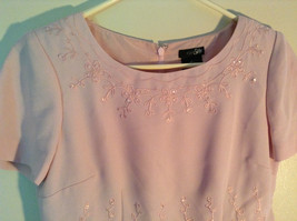 Elegant Light Dusty Rose Pink Dress by East 5th Petite Size 6P Double Layered image 5