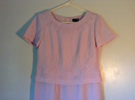 Elegant Light Dusty Rose Pink Dress by East 5th Petite Size 6P Double Layered image 2