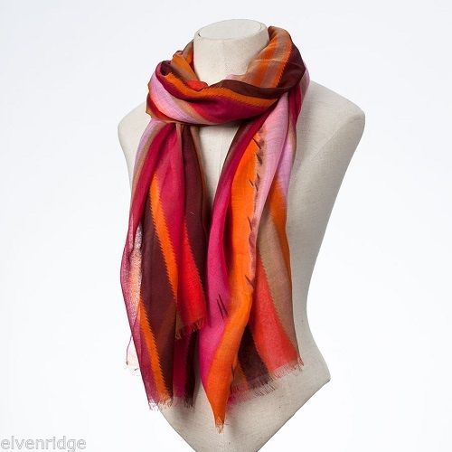 Fashion scarf  orange pink multicolored scarf