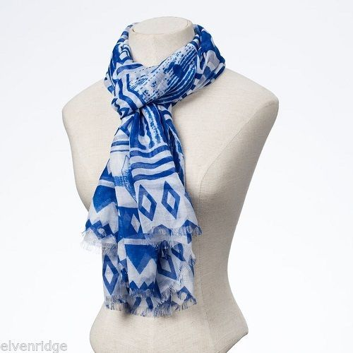 Fashion scarf blue tribal style