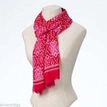Fashion scarf  pink tonal diamond pattern