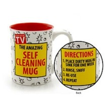Father's Day or other holiday Dad gift The Amazing Self Cleaning Mug gag present