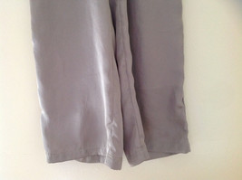 Forever 21 Tan Flow Pants with Fold Over Fabric Waistband Pockets Size Medium image 4