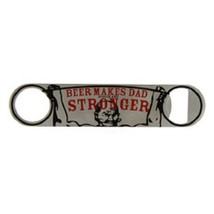Father's Day Beer or Bottle opener Beer Makes Dad Stronger w weight lifter
