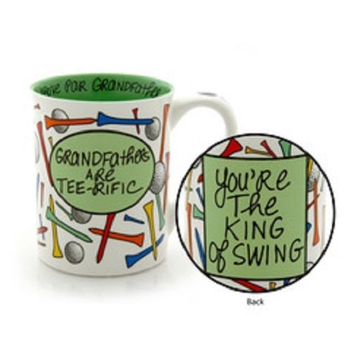 Father's Day or other holiday Grandfather Golfer Mug gag King of Swing