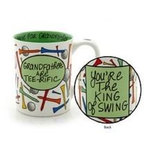 Father's Day or other holiday Grandfather Golfer Mug gag King of Swing - £31.39 GBP