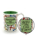 Father's Day or other holiday Grandfather Golfer Mug gag King of Swing - $39.99