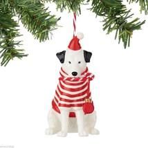 Fetch the Spirit Cute Merry Mutt  Dog ornament ceramic stoneware NEW