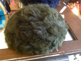 Felted wool medallion French style cap in choice of colors navy or olive Ophelie