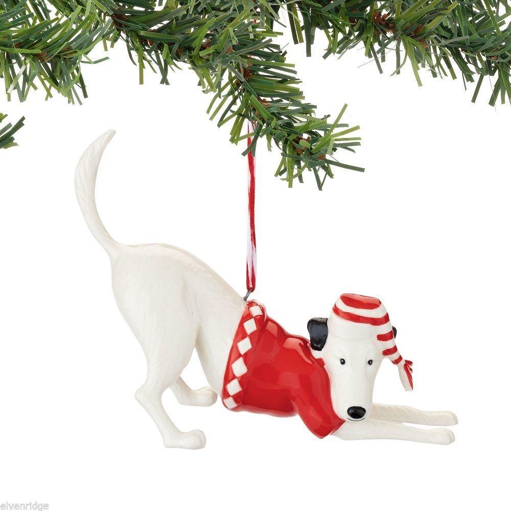Fetch the Spirit Cute Playful Mutt  Dog ornament ceramic stoneware NEW