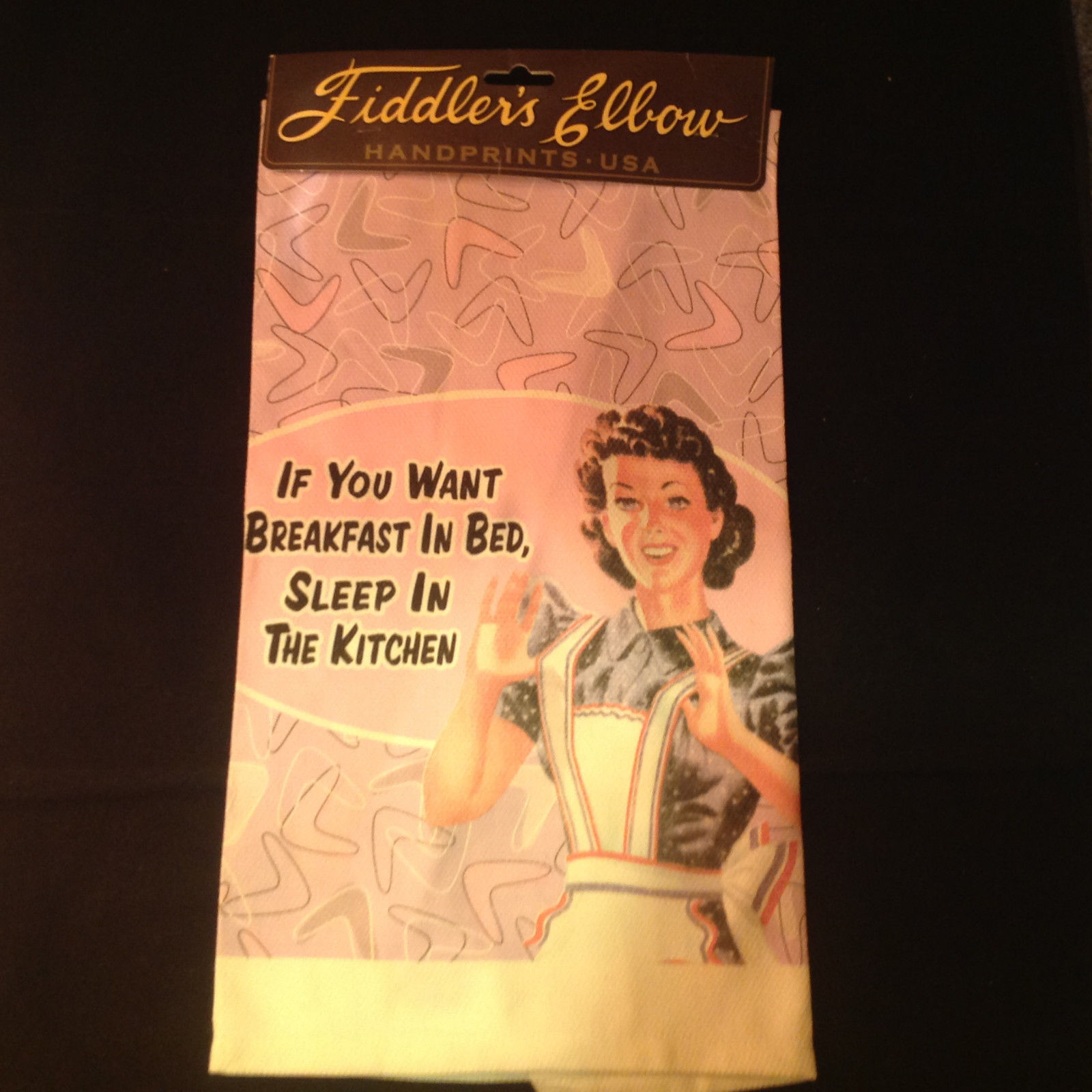 Fiddlers Elbow Hand Prints USA Kitchen Towel Absorbent and Lint Free Silk Screen
