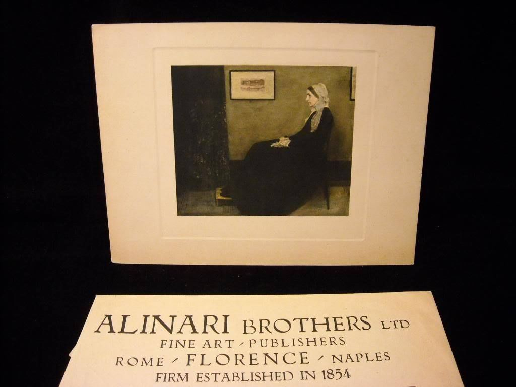 Fine Italian Art Reprint of  Whistler's Mother  in original Envelope by Alinari