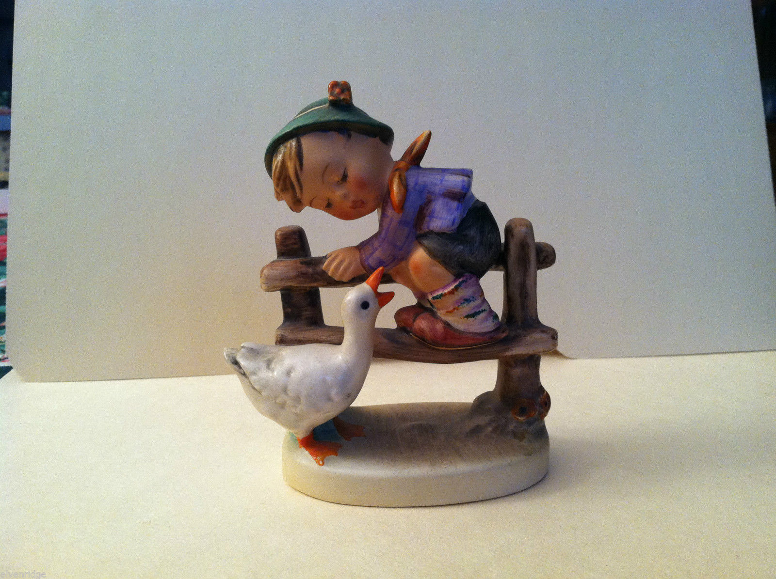 "Goebel Hummel ""Barnyard Hero"" #195 Figurine - West Germany Stamped"