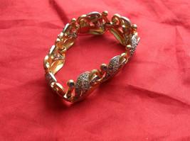 Gold/Light Blue/Crystal Bracelet  Vintage mid 1900s