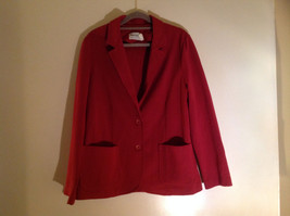 Fire Islander Red 2 Button Blazer 2 Front Pockets Size 18