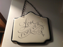 Enameled Home Decor Metal Signs With Black Chain Hanger Ready to Hang Set of 3 image 2