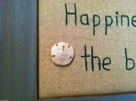 """Framed """"Happiness is...the Beach"""" Embroidered wall art image 3"""