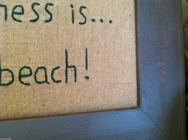"""Framed """"Happiness is...the Beach"""" Embroidered wall art image 4"""