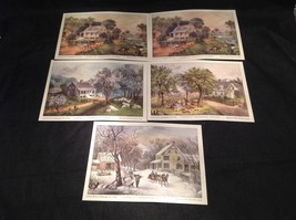 Five Lithographs Currier & Ives 19th Century Images image 1