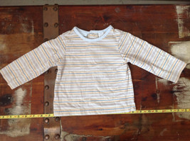 First Impressions Infant Blue Yellow Striped Long Sleeve Shirt Size 12 Months