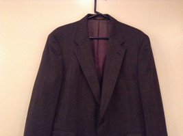 Evan Picone Gray Jacket and Pant Suit Size 46 Regular Partially Lined Jacket image 2