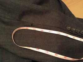 Evan Picone Gray Jacket and Pant Suit Size 46 Regular Partially Lined Jacket image 6